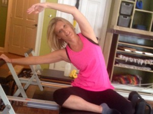 staci wise doing mermaid on the reformer cropped